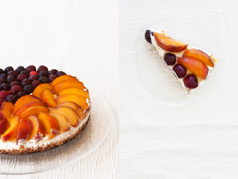 אורה קורן עוגת גבינה עם פירות ללא אפייה